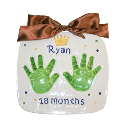 Double Handprint Plaque