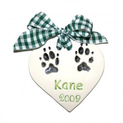 Double Paw Print Plaque